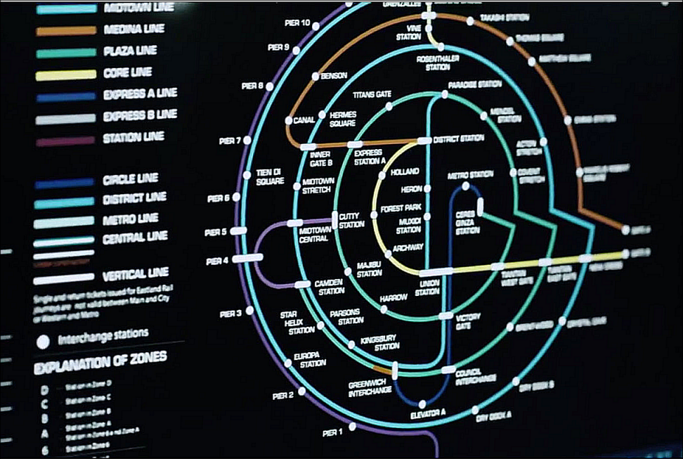 Layout of Ceres Station on the Expanse