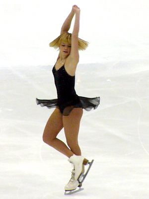 Elena Sokolova doing the scratch-spin