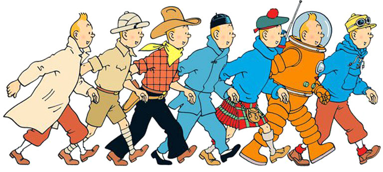 Tintin explores the visual languages of comics
